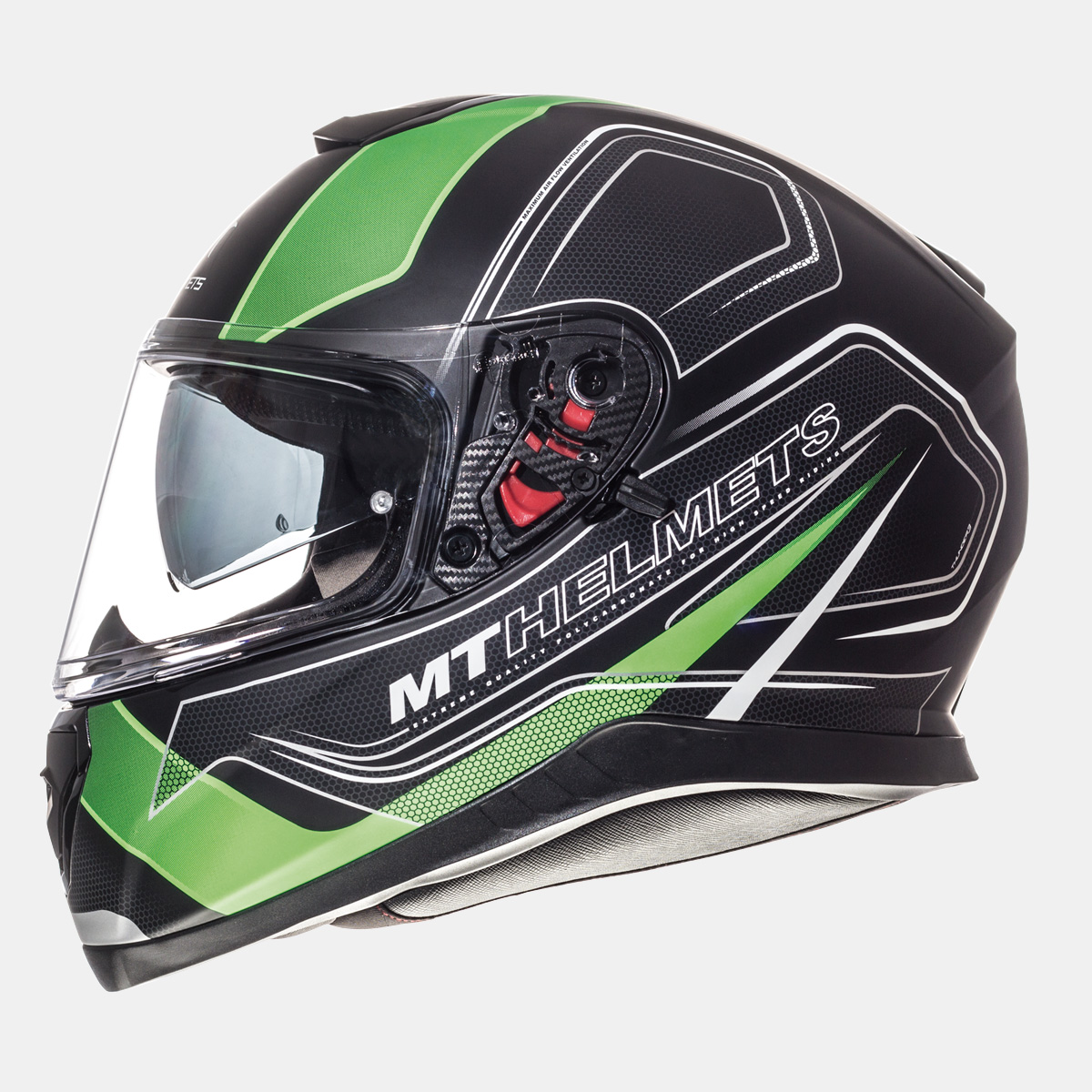 MT Thunder SV Trace zárt bukósisak matt fekete-zöld - Zozomoto ... ebae030d74